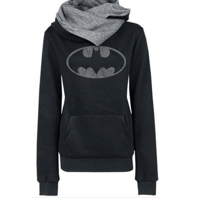 Fashion Batman Printed Pullover Hoodies Men And Women Long Sleeve Hooded Sweatshirts 2016 Autumn Outerwear Casual Fleece Coat