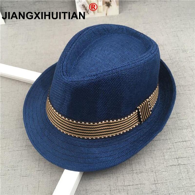 4ed210b4a US $3.19 34% OFF|New Straw Cap Baby Hats Children Jazz Cap Bucket Hat Sun  Cap Summer Hat For Girls Boys Panama Hat Photography Props-in Hats & Caps  ...