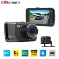 Gotomato 4.0 Inch IPS HD Screen Dual Camera Car DVR Full HD 1920*1080P 2 Lens Car Camera Video Recorder 2 LED Night Vision