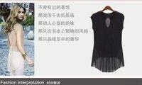 высокой четкости мода цвет блок повар потерял топ женщин с Корк рукавом рубашка, бесплатная доставка