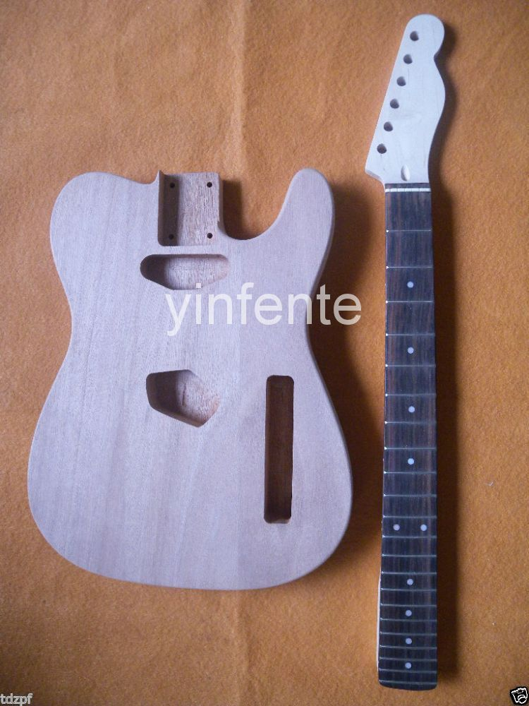 New Unfinished electric guitar neck & Guitar bod Mahogany 1 set new bonding unfinished electric guitar neck mahogany