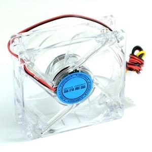 Image 3 - Ventilateur de refroidissement pour boîtier dordinateur et pc, 8cm avec ventilateur 8025 et châssis lumières LED bleues, 80x80x25