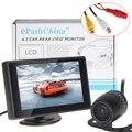 4.3 Polegada Color Digital TFT LCD Car Auto Reverso Traseiro Retrovisor Monitor de Suporte Resolução 480x272 + Carro câmera