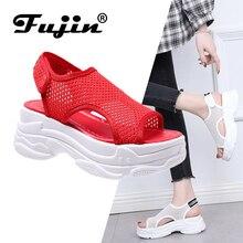 Fujin  Sandalias De Mujer Verano 2019 Dropshipping Female Sandals Shoes Summer Leisure Fashion Thick Bottom Women