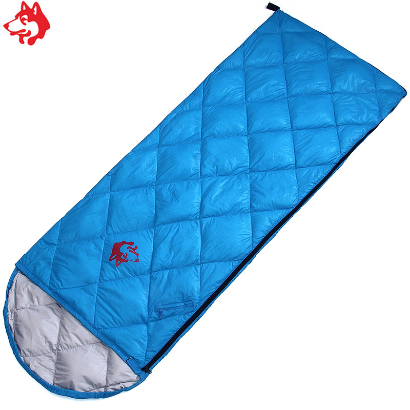 Spring Autumn thin camping travel hiking sleeping bag Red Green Blue duck down 0 8kg envelope