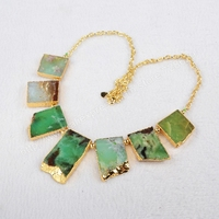 5Pcs Lot New Arrival Fashion 20 Gold Plated Natural Australia Jade Necklace Jewelry G0401