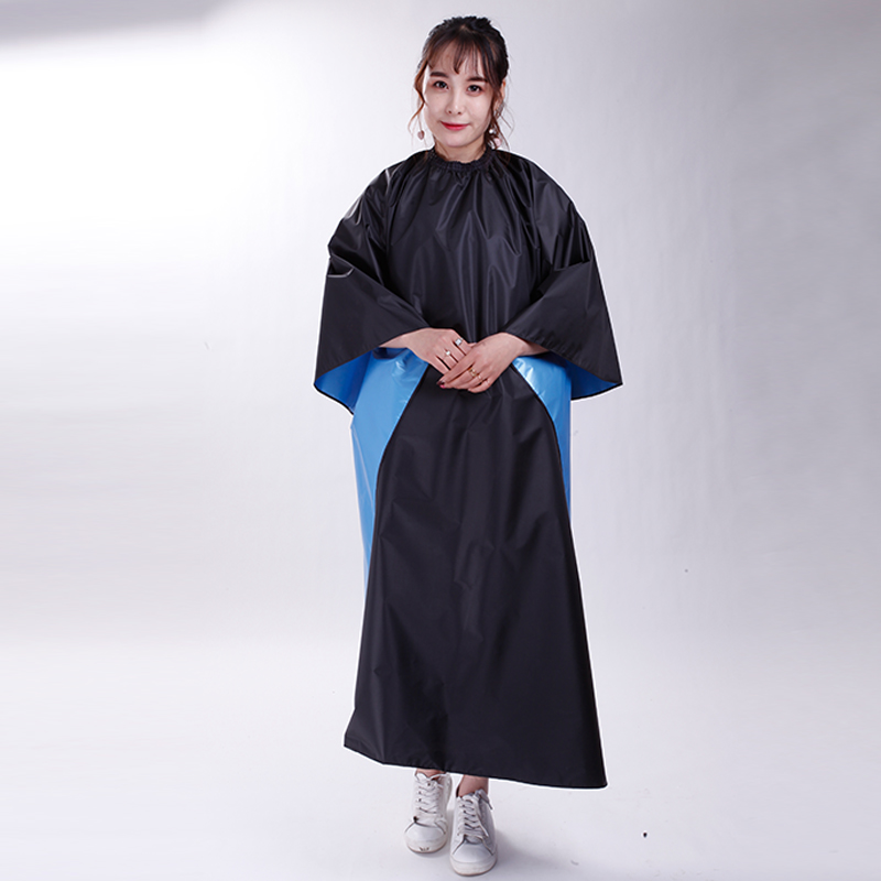 Pro Black Salon Hair Cut Hairdressing Hairdresser Barbers Cape Gown Adult Cloth Waterproof 1Pc Good Guality 170X150cm Big Size