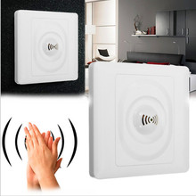 1 pc New Smart Home  Wall Mount Smart Voice Control Light Sensor Switch Sound & Light Controlled Delay Switch lit 45 x 11cm car decorative voice sensor sound controlled 5 color led light sticker multicolored