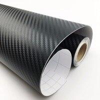 200cm 50cm 3D Carbon Fiber Fibre Vinyl Film Sheet DIY Car Stickers Waterproof Motorcycle Car Styling