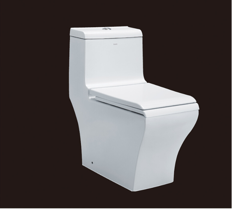 2016 hot sales water closet one-piece toilet S-trap toilets with PVC adaptor UF soft close seat AST356 UPC certificate