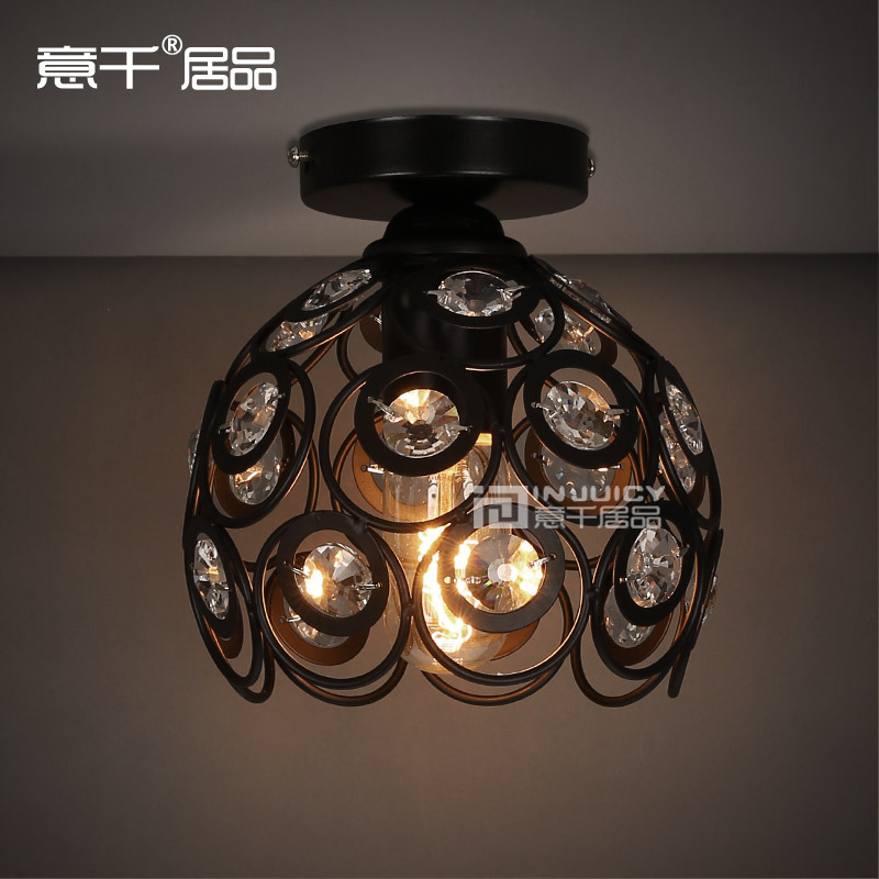 Vintage Style Edison Bulb With High Quality Clear K9 Crystal Ceiling Lamp Light Cafe Bar Hall Coffee Shop Club Store RestaurantVintage Style Edison Bulb With High Quality Clear K9 Crystal Ceiling Lamp Light Cafe Bar Hall Coffee Shop Club Store Restaurant