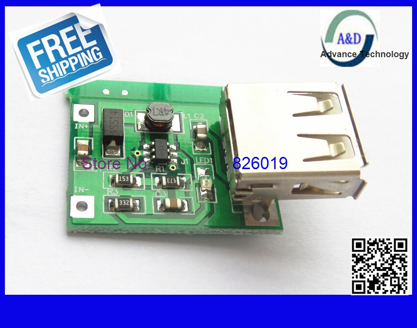 1pcs free shipping DC-DC USB Output charger step up Power Boost Module 0.9V ~ 5V to 5V 600MA USB Mobile Power Boost Board