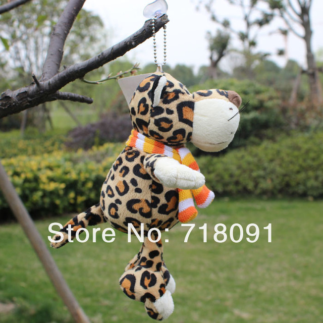 NICI Plush Stuffed Toy Leopard Animals with Sucker,Can be Sucked on Glass,20CM,1PC