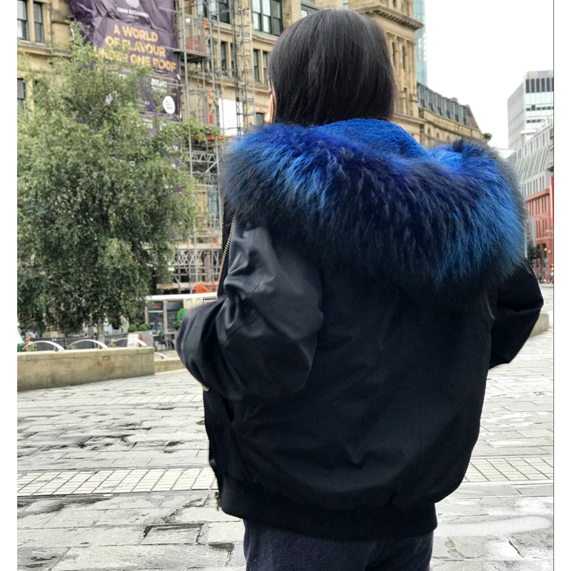 black p Femmes Raton Veste Blue Faux wine Cx Mode Fur Inner Inner Inner Réel Doublure Laveur Collier 19h Bomber Fourrure g Avec Nouveau De Rxqw05xv