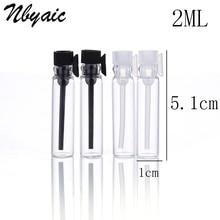 5 шт./лот мини Стекло духи небольшой образец флаконы, парфюмерный флакон 1 мл 2 мл пустая лабораторная Жидкость Аромат Тесты трубка пробный бутылка