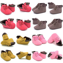 Newborn Baby Casual Shoes Infant Toddler Girl Baby Crib Shoes Boot Newborn Soft Sole Martin Shoes Moccasin(China)
