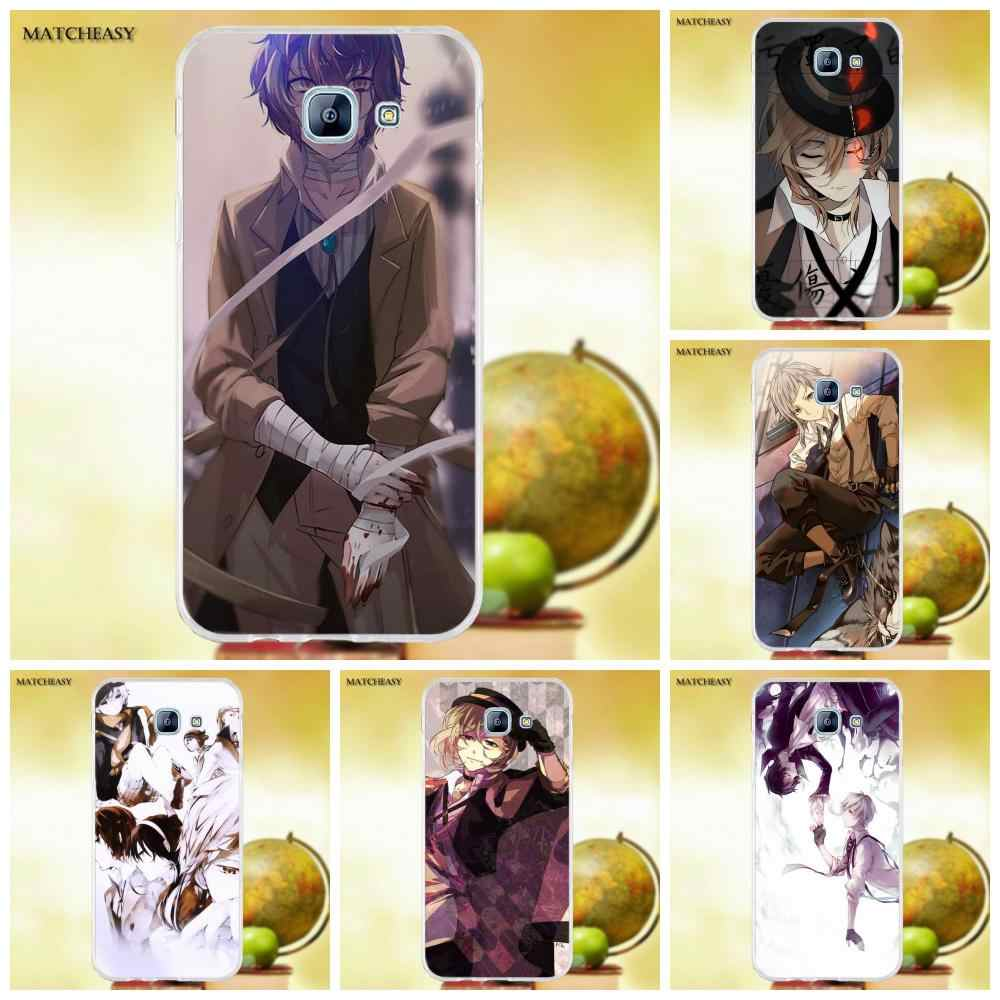 Oedmeb For Samsung Galaxy A3 A5 A7 J1 J2 J3 J5 J7 2015 2016 2017 TPU Stylish Case Japanese Anime Bungou Stray Dogs