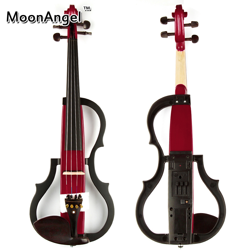 4/4 Red Wood Electric Violin Musical Instruments Good Quality Ebony Stringed Instrument Suitable for Beginners and Music Amateur wooden music child toy musical instrument set 11 piece per set toy musical instruments set