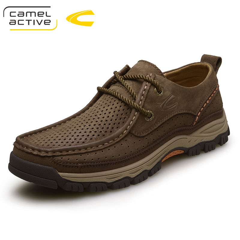 Camel Active 2018 Genuine Leather Casual Shoes Men Handmade Vintage Shoes Lace-up Hot Sale Moccasins Chaussure Homme Large Size deha толстовка