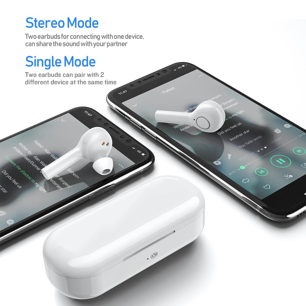 Haut Bluetooth 5.0 écouteurs pour tous les téléphones intelligents Mini sans fil écouteurs sport casque casque pour Samsung pour Xiaomi Huawei - 2