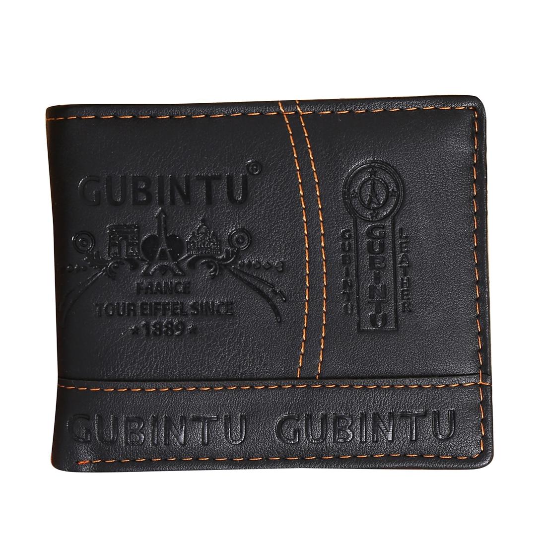 Mens Luxury Leather Bifold Wallet Credit/ID Card Receipt Holder Slim Coin Purse vsen hot men luxury leather card cash receipt holder organizer bifold wallet coin purse