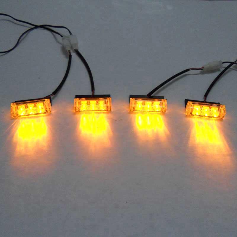 4x3 led strobe flash warning ems police light flashing firemen lights. Black Bedroom Furniture Sets. Home Design Ideas