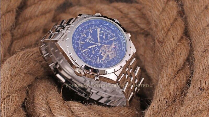 Reloj Hombre JARAGAR montre de mode hommes jour volant automobile mécanique en acier montre-bracelet boîte cadeau de noël cadeau livraison gratuite - 3