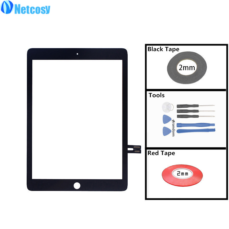 For ipad A1893 A1954 ouch screen digitizer glass lens panel sensor For iPad 6 6th Gen A1893 A1954 2018 Version Touchscreen 5pcs lcd display screen for ipad 9 7 2018 version a1893 a1954 for ipad 6 6th gen lcd outer glass panel replacement dhl free