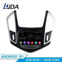 LJDA 2 Din 8 дюймов автомобиля радио Android 8,1 для CHEVROLET Cruze 2013 2014 2015 4 ядра gps навигатор Зеркало Ссылка Wi Fi Авто Аудио