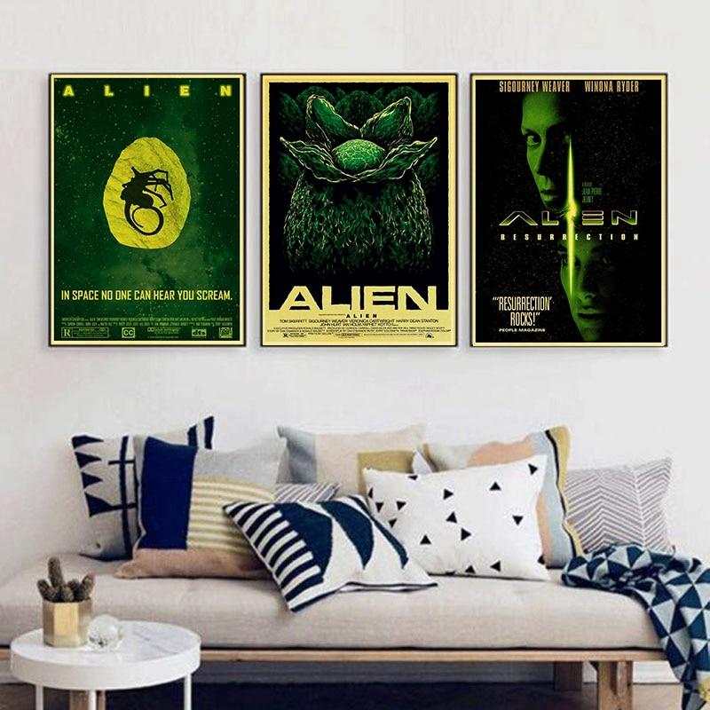 Alien Sigourney Weaver Vintage Paper Poster Wall Painting Home Decoration 42X30 CM 30X21 CM