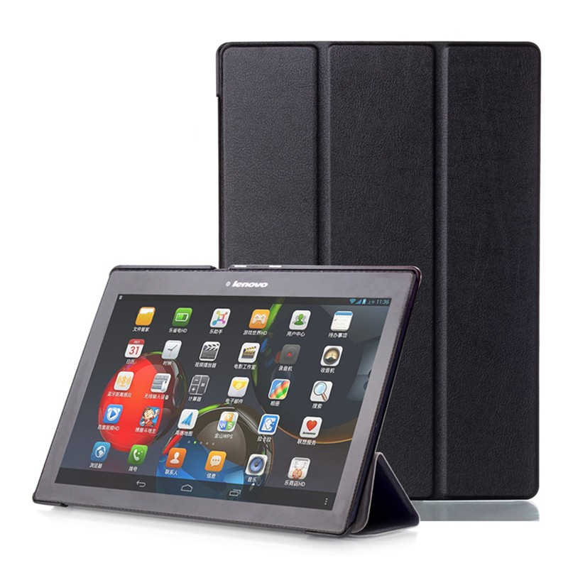 PU leather Cover For Lenovo Tab2  A10-70F/L A10-30F/L Tablet Case for Lenovo Tab-X103F Business TB3-70F/N Tab3 10 Plus+Film+Pen for lenovo tab2 a10 70f smart flip leather case cover for lenovo tab 2 a10 70 a10 70f a10 70l tablet 10 1 with screen protector