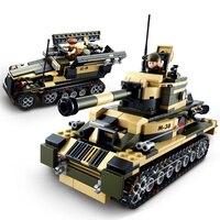 Sluban Model Building Compatible B0587 928pcs Model Building Kits Classic Toys Hobbies 8 in 1 Warworf Tank