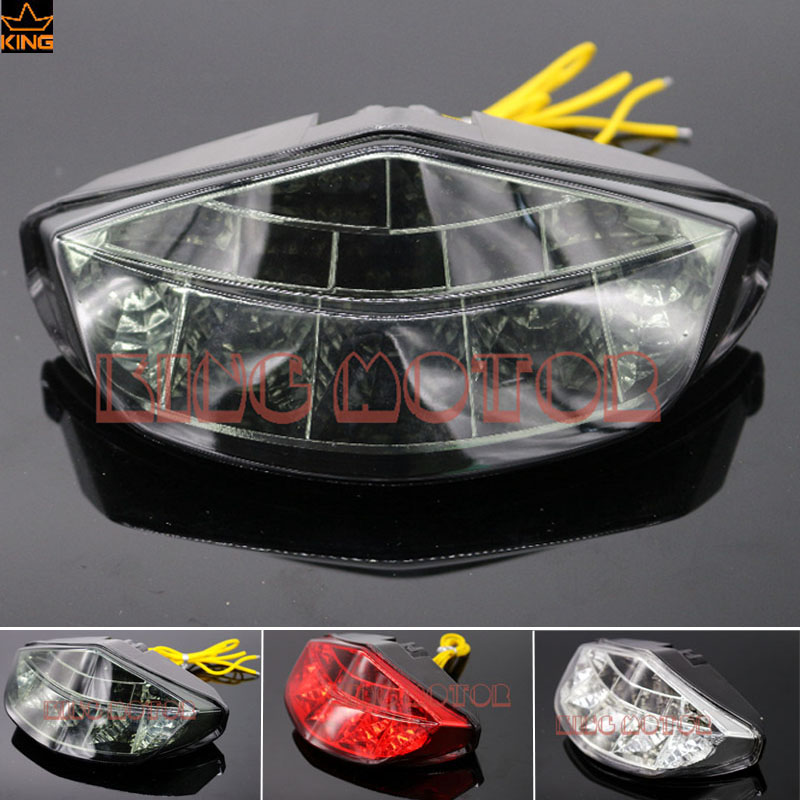 For DUCATI Monster 696 796 1100/S/EVO Motorcycle Accessories Integrated LED Tail Light Turn signal Blinker Smoke  new led tail light taillight turn signal lamp for ducati streetfighter s 848 1102012 2013 2014 smoke motorcycle parts