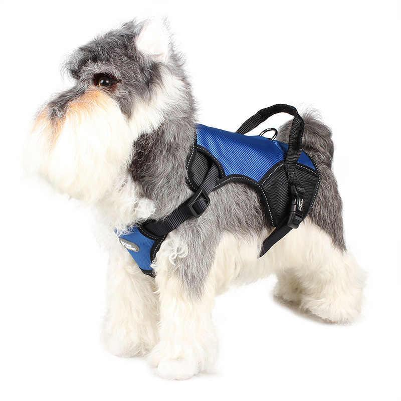 ナイロンメッシュベストハーネス子犬襟猫ペット犬の胸のストラップ調整可能なソフト通気性犬ハーネス