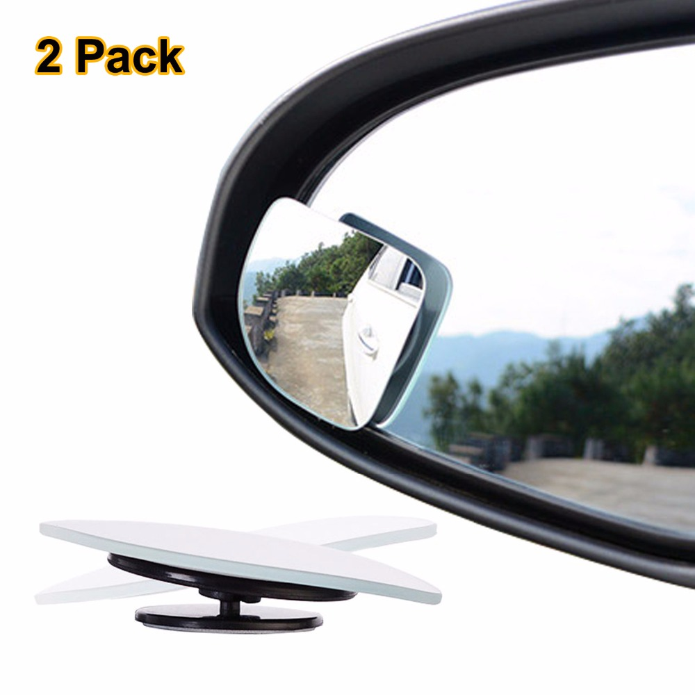 2pc Adjustabe frameless HD Glass Car Blind Spot Mirror for parking Auxiliary Rear view mirror Fan