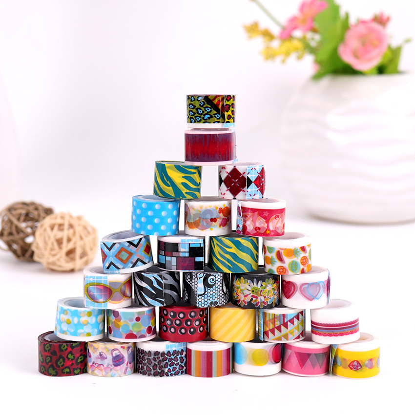 10 PCS/Lot Mini Color Tapes DIY Decorative Adhesive Tape Sticker Cartoon Diary Lace Tape Cinta Adhesive