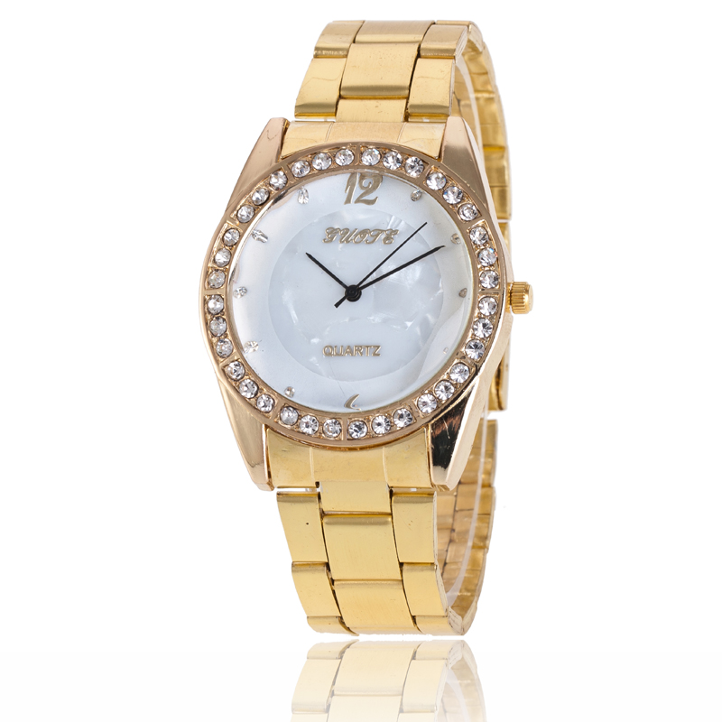 2016 New Famous Brand Gold Casual Quartz Watch Women Stainless Steel Watches Relogio Feminino Wristwatches Ladies Clock Hot Sale mance women men unisex watches gold stainless steel quartz wrist watch skull pirate quality relogio time clock 2016 hot sale