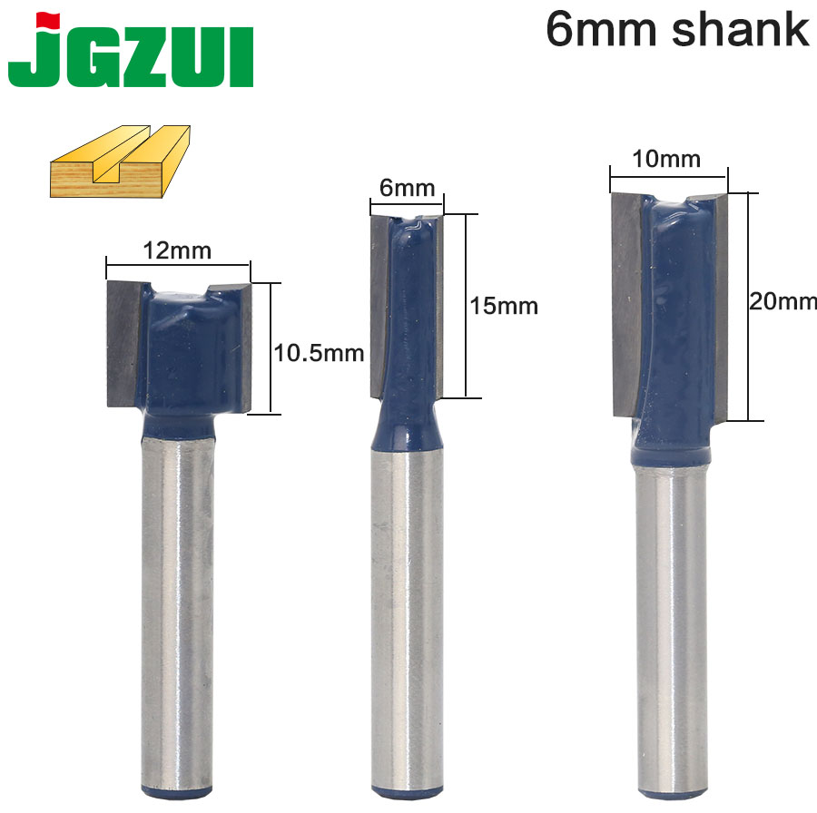 цена на 1 pc Straight/Dado Router Bit - 3/4W x 3/4H - 6 Shank Woodworking cutter Wood Cutting Tool