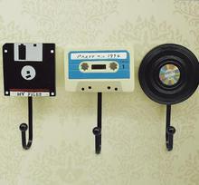 2016 Творческая Старинные Смолы Крючок Мода кассета дизайн стены крюк спальня Стены Крюк Стены Крючок