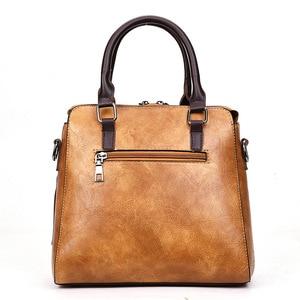 Image 4 - Vintage PU Leder Damen Handtaschen Frauen Messenger Taschen TotesTassel Designer Umhängetasche Schulter Tasche Boston Hand Taschen Heißer Verkauf