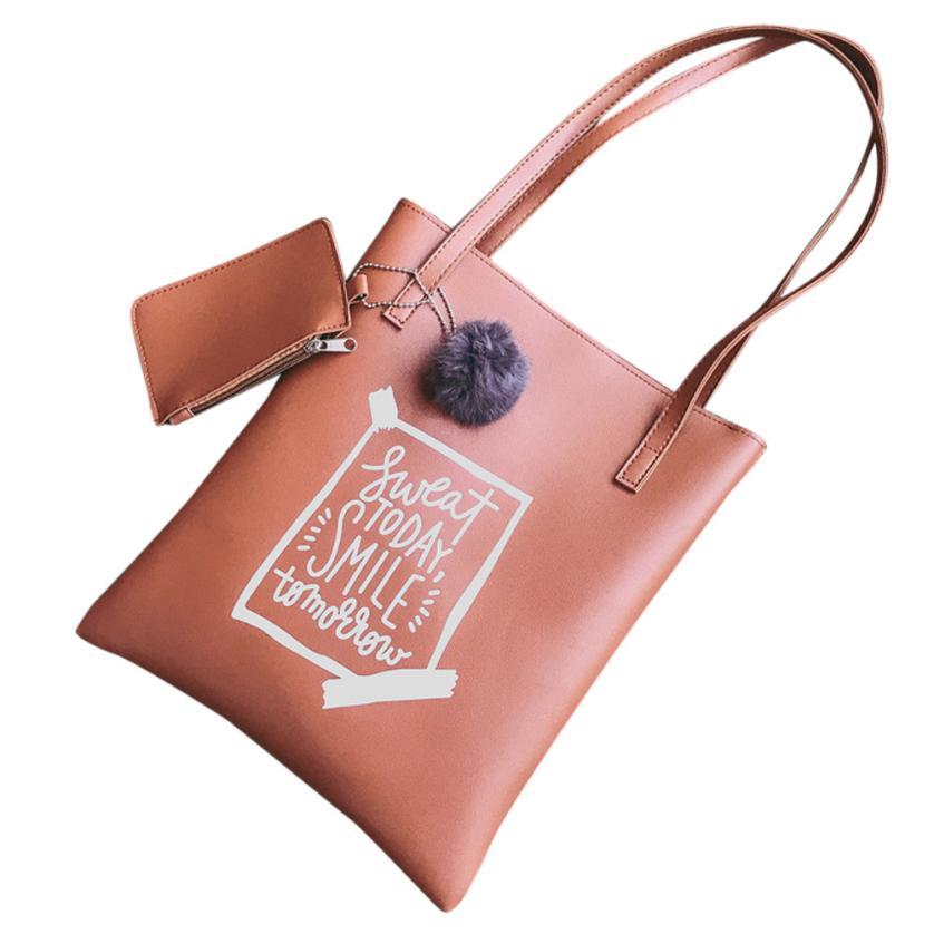 2 шт. Модные женские кожаные pu мяч сумки сумка Сумка + Монета Сумка-мешок # F