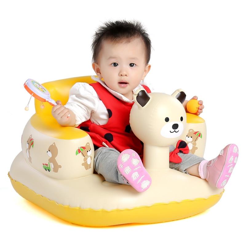 Toddler Baby Inflatable Sofa Stool Bath Tub Chair Children