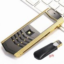 Русская клавиатура кнопка роскошный металлический+ кожаный корпус Китай gsm dual sim Сотовые телефоны bluetooth мобильный телефон k9 LT2 телефон