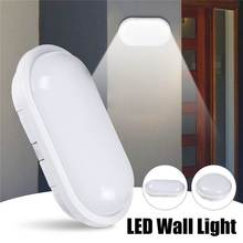 AC85-265V 16W 20W LED Wall Lamp Moistureproof Porch Light Surface mounted Round Oval Shape for Outdoor Garden Bathroom light