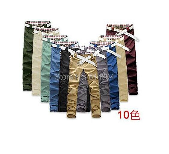 Лето стиль весна одежда хан издание мужчины в длинная брюки приталенный Fit брюки свободного покроя брюки 10 цвет