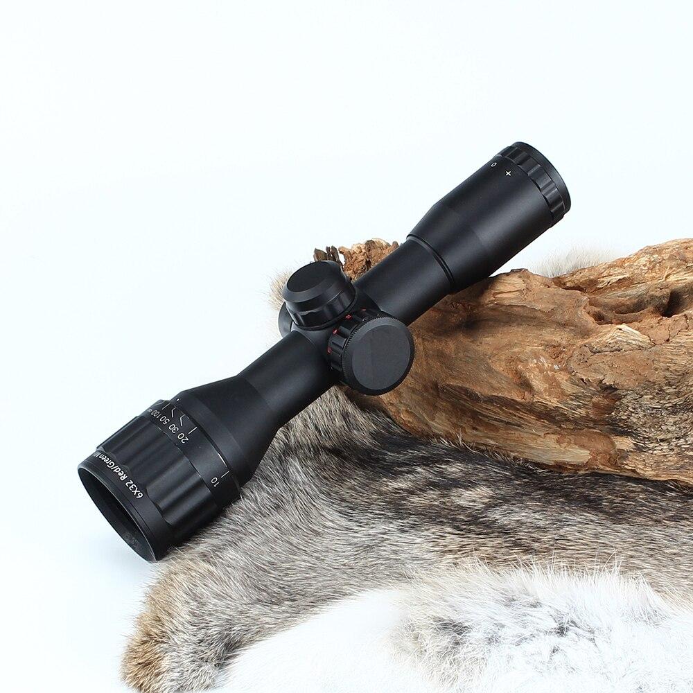Optique de chasse 6X32 AO classique lunette de visée compacte illuminée Mil Dot réticule viseur tactique avec pare-soleil portée livraison gratuite