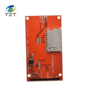 "Image 2 - 2.4 ""240 × 320 spi tft lcdシリアルポートモジュール + 5v/3.3v pbcアダプタマイクロsd ILI9341 ledタッチ/arduinoのための無接触"