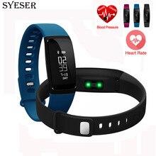 Muñequera Heart rate SYESER Nuevo V07 banda Inteligente de La Presión Arterial monitor de pulsera inteligente rastreador de ejercicios smartband PK mi banda 2 m2