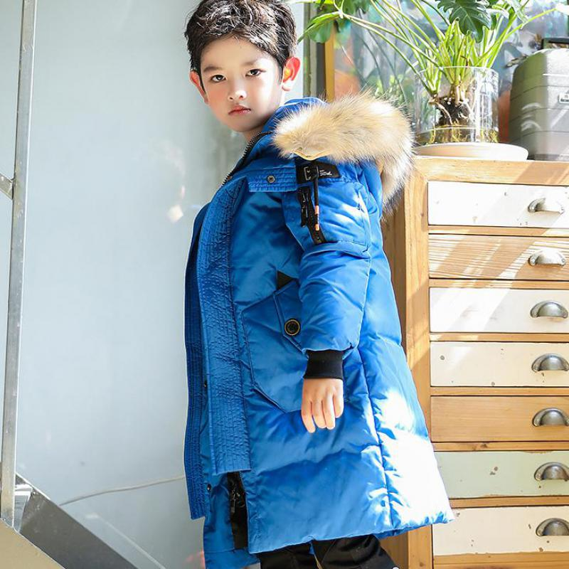 2017 New Arrival Kids Winter Jackets Children Thick Warm Down Jacket Coats With Fur Hooded High Quality Boys Down Jackets 7-16 T new 2017 russia winter boys clothing warm jacket for kids thick coats high quality overalls for boy down