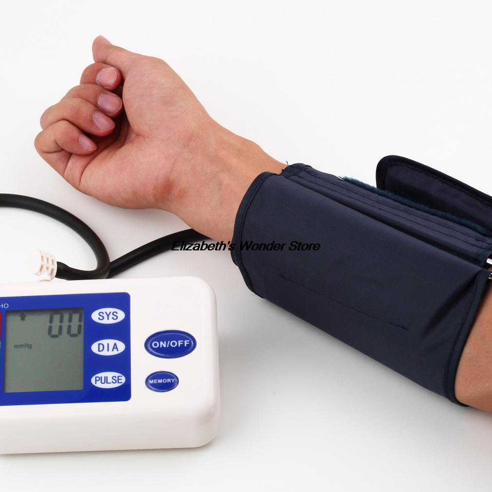 Arm Blood Pressure Pulse Monitor Health care Monitors Digital Upper Portable Blood Pressure Monitor meters sphygmomanometer upper arm blood pressure monitor desktop type pulse meter auto inflate inflating deflate diflating